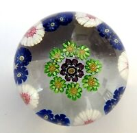 Antique French CLICHY MINIATURE Open Concentric Paperweight