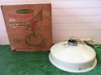 Vintage 60's HOLLY TIME Tree Turner Aluminum Christmas Tree Rotating Stand w/Box
