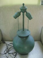 Lamp CLEWELL POTTERY Copper Clad Ceramic Vase 1931 20quot; High