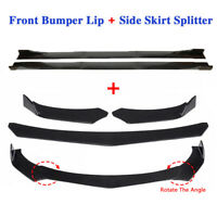 Universal Car Front Bumper Lip Spoiler Diffuser Side Skirt Splitter Extension $94.99