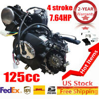 7.64HP 125cc 4 stroke ATV Engine Motor Semi Auto w Reverse Electric Start USA