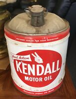 Antique Kendall Motor Oil 5 Gallon Can With Wood Handle