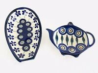 Boleslawiec Polish Pottery Spoon Rest amp; Tea Bag Holder