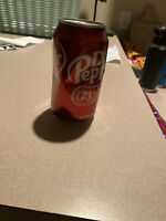 RARE Empty UNOPENED Dr. Pepper Can