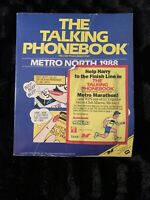 Rare 1988 Metro North Boston The Talking Phonebook Yellow Pages Directory