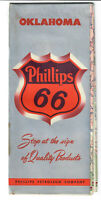Phillips 66 map Oklahoma advertising good condition 1950#x27;s