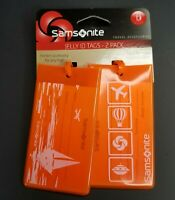 Samsonite 2 pack Jelly ID Tags Orange Fits Most Business Card Sizes New