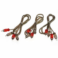 3 Audio RCA Interconnect Cable 3 FT foot Patch Male to Male OFC Spiral Braid $8.19