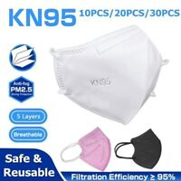 10 20 30 Pack Disposable KN95 Fabric Protective Mask Children Kids Face Masks
