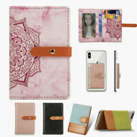 Universal Stick on Leather Phone Credit Card Holder fr Cell Phone Sticker Wallet $6.99