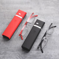 Unisex Half Frame Rimless Compact Reading Glasses Readers Travel with Case US