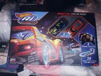 Ai Intelligent Race System Hot Wheels With 2 Smart Cars Toy TESTED $50.00