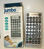Vintage Emerson Jumbo Universal Remote Control Used Once Tested Good $15.00