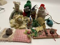 Vintage Lot Of Small Vintage Cloth Mouse Mice Figurines Russ amp; Handmade Pieces
