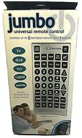 Giant Jumbo Universal Remote TV VCR DVD SAT Cable Control Big Button Remote New $18.99