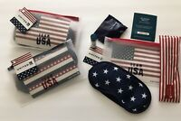 New Sealed Lot 2 UNITED AIRLINES First Class Amenity Kit Bag Olympic TEAM USA