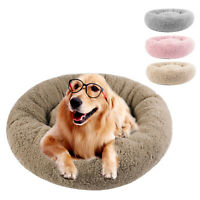 Ultra Soft Donut Pet Bed for S XL Dog Cat Non Slip Cozy Round Sleeping Cushion