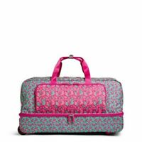 NEW Large Wheeled Duffel Bag DITSY DOT Luggage Store Display