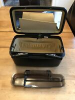 Samsonite Excel 1992 Vintage Black Train Case Small Suitcase w Key Made In USA
