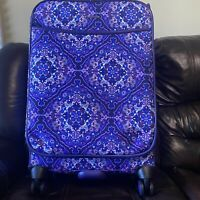 NWT Vera Bradley 27quot; Iconic Large Rolling Spinner Luggage Suitcase New Purple