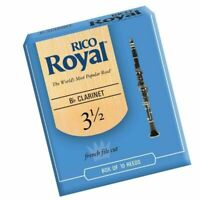 Rico Royal Bb Clarinet Reeds Strength 3 1/2  3.5 - 10 Reed Pack Made in USA