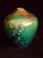 Paul Brown Porcelain Pottery, Crystalline Glaze, Hand Thrown VASE Fine Art