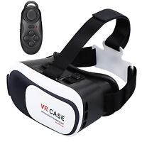 Virtual Reality VR Headset 3D Glasses With Remote for Android IOS iPhone Samsung $15.99