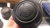 NEW YAMAHA ATV WHEEL CAPS BLACK wt LOGO FITS MOST YAMAHA ATV HUB