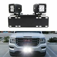 40W CREE LED Pods w/ License Plate Bracket, Wirings For Truck Jeep ATV 4WD 4x4