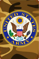 United States Army Camo Metal Sign
