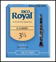 Rico Royal Eb Clarinet Reeds, Strength 3.5, 10-pack RBB1035 10 Reeds