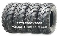 Set of 4 WANDA ATV/UTV Tires 25X8-12 25X10-12 for 2002-2008 YAMAHA GRIZZLY 660