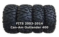 Set of 4 WANDA ATV/UTV Tires 25X8-12 25X10-12 for 2003-2014 Can-Am Outlander 400