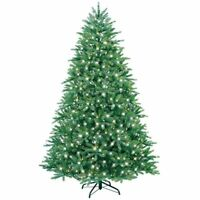 GE 7.5 ft. Just Cut Easy-Shape Clear Light Pre-Lit Colorado Spruce Tree