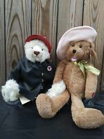 TEXACO FIREMAN BEAR 1999 THIRD EDITION  FIRE CHIEf and friend