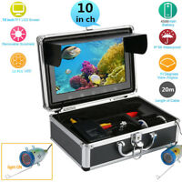 10'' Pro 50m Fish Finder Underwater Sonar Fishing Camera Color HD LCD Monitor