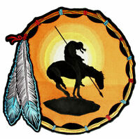 End Of The Trail Native Indian, Feathers Embroidered Biker Patch FREE SHIP