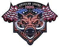 American Legend Hog Flags Embroidered Biker Patch FREE SHIP