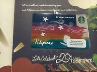 Brand New STARBUCKS Philippines 20th Anniversary Card Rare Planner Exclusive