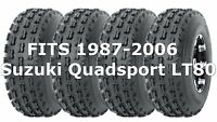 Suzuki Quadsport LT80 1987-2006 Full Set Wanda Sport ATV tires 19x7-8 19x7x8