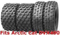 Set 4 Wanda Sport ATV tires 22x7-10 & 20x10-9 Arctic Cat DVX400 GNCC Race
