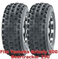 2 ATV Tires 22x7 10 22x7x10 Yamaha Grizzly 300 Beartracker 250 front GNCC Racing