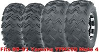 Set 4 WANDA ATV tires 22x8-10 Front & 25x12-9 Rear 89-91 Yamaha YFM250 Moto 4