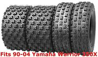 4 WANDA Sport ATV tires 22x7-10 & 22x10-9 90-04 Yamaha Warrior 350X GNCC Race