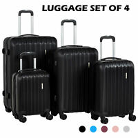 34Pcs ABS Trolley Carry On Travel Luggage Set Bag Spinner Suitcase w TSA Lock