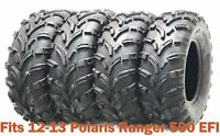 Set 4 WANDA ATV tires 25x8-12 & 25x11-12 for 12-13 Polaris Ranger 500 EFI