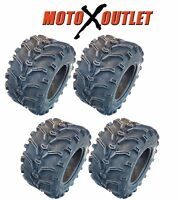 Kenda ATV Tires 25x10-12 Bear Claw Set of 4 Mud 6 Ply Rated Lite 25X10X12