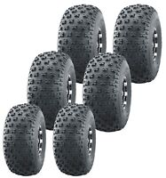 Set 6 Utility ATV tires (2) 22.5x10-8 Front & (4) 25x12-9 Rear 6x6 High Load