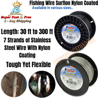Nylon Coated Fishing Leader Wire All Around Stainless Steel Toothy Fish Tie Wire