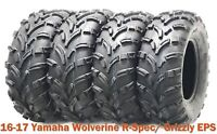 Set4 ATV Tires 26x8 12 amp; 26x10 12 for 16 17 Yamaha Wolverine R Spec Grizzly EPS